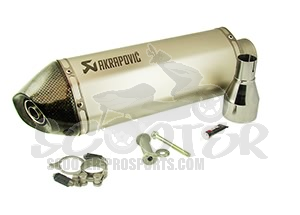 Auspuff Akrapovic Slip-on Line Race (E-Pass) - Vespa GTS - GTV 125 - 250 - 300