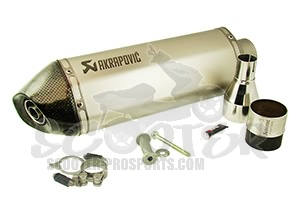 Auspuff Akrapovic Slip-on Line (ABE) - Sportcity - Runner VX - Nexus - GP1 - Beverly - MP3