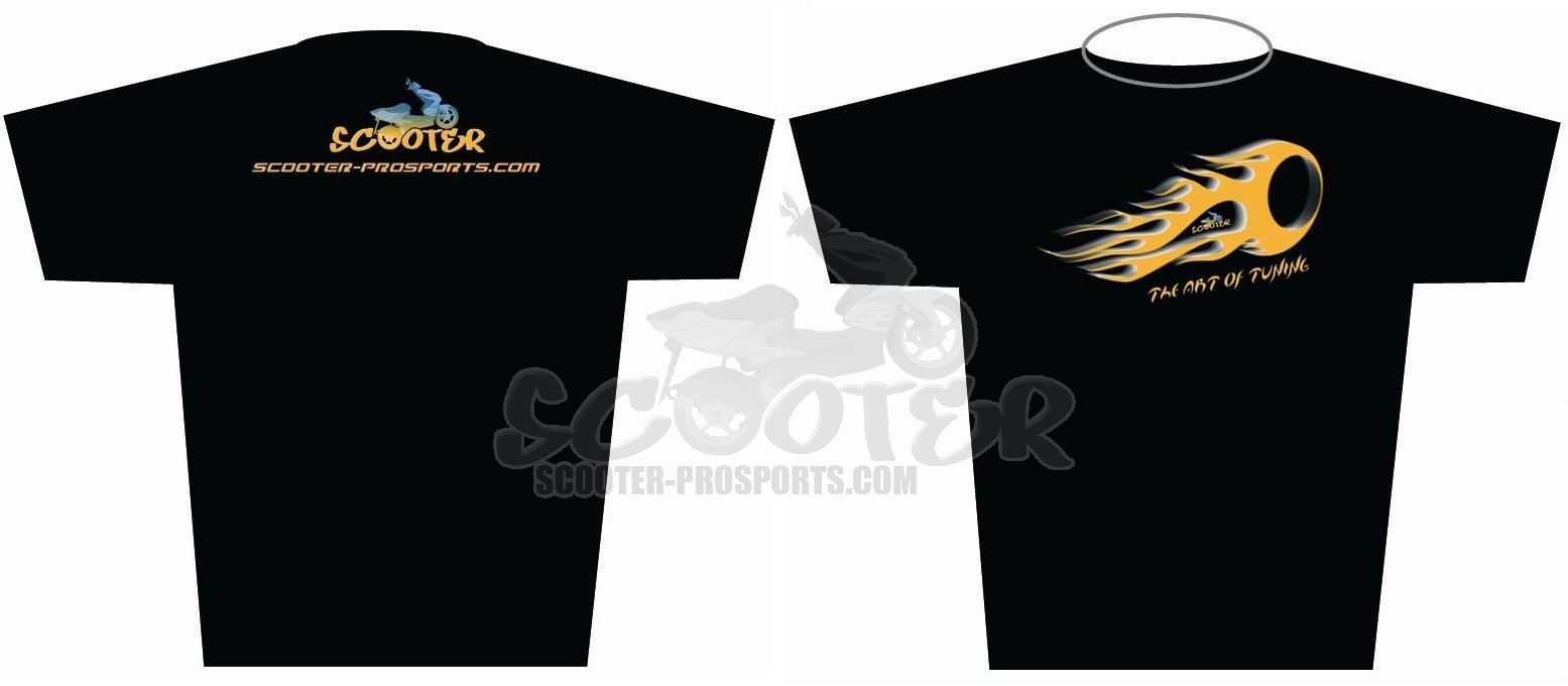 2014 Style Scooter-ProSports Black T-shirt Art.Nr.SPS.SHIRT