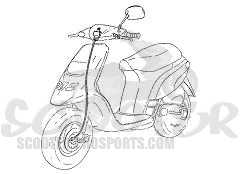 Tachowelle Kymco People 50-125-150 ccm