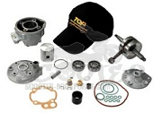 Zylinder Top Perf. Due Plus Kit 85 ccm mit Kurbelwelle AM6 Motor  - RS50 - Beta RR - CPI SMX - SX - Trigger - Peugeot XR - Rieju - Yamaha DT - TZR