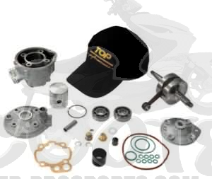 Zylinder Top Perf. Due Plus Kit 85 ccm mit Kurbelwelle AM6 Motor  - RS50 - Beta RR - CPI SMX - SX - Trigger - Peugeot XR - Rieju - Yamaha DT - TZR Art.Nr.TP9921450