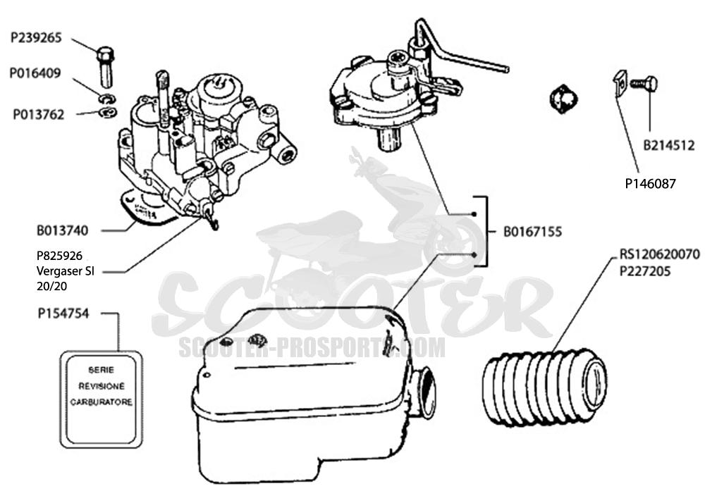 Vergaser SI 20-20 Vespa PX 150 √ Scooter-ProSports