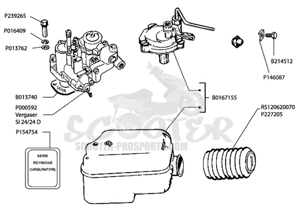 Vergaser SI 24-24 Vespa PX 200 √ Scooter-ProSports
