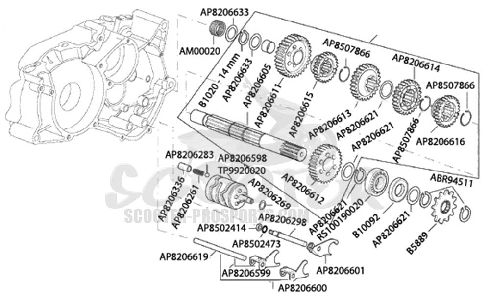 Art 1647953,getriebe Vorgelege Am6